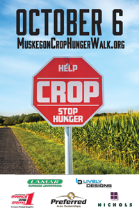 Muskegon CROP Hunger Walk Poster 2019 image